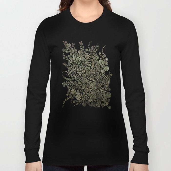 Gold on black Long Sleeve T-shirt