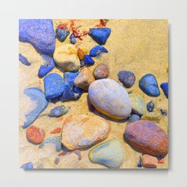 Fantasy Beach Magical 'Moon' Rocks Metal Print