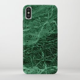 Dark emerald marble texture iPhone Case