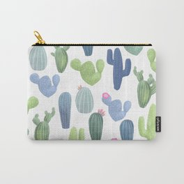 watercolor cacti plants pattern Carry-All Pouch