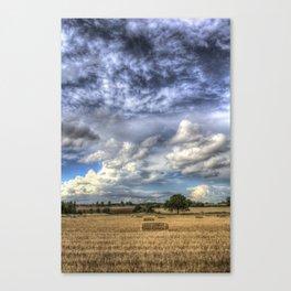 Dramatic skies over the Farm Canvas Print