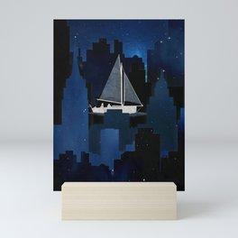 City Sailing Mini Art Print