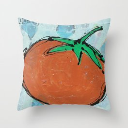 tomato. Throw Pillow