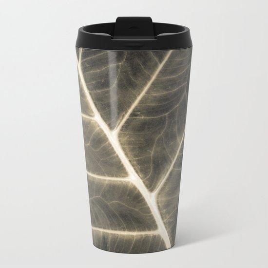 Leaf Patterns Metal Travel Mug