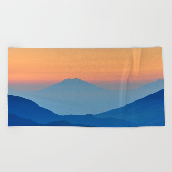 Orange Valley #mountains Beach Towel