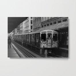 Green Line Metal Print