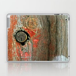Weathered Wood Texture with Keyhole Laptop & iPad Skin