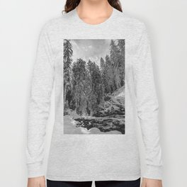 Oregon Adventures Black and White - Nature Photography Long Sleeve T-shirt
