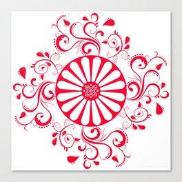 Gyspy Wheel Mandala Canvas Print