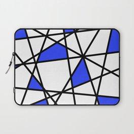 Geometric Modern triangles - white blue Laptop Sleeve