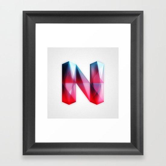 The Letter N Framed Art Print