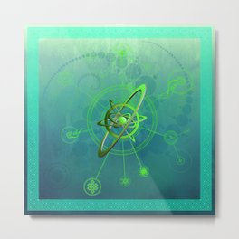 Acidum viridi anu conjunctio spiritualis et luna symbola cum seges circuli Metal Print