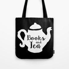 Books and Tea - Inverted Tote Bag