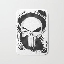 Punisher Skull Within Ripped Fabric Bath Mat
