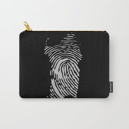 Sardinian fingerprint (black) Carry-All Pouch