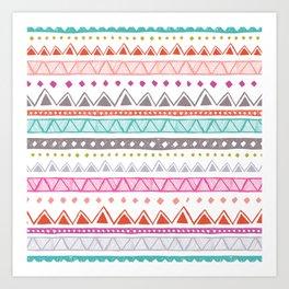 Half Full Stripe Art Print