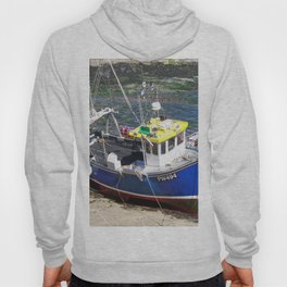 Fishing boat at Boscastle harbour Hoody