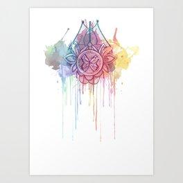Watercolour Butterfly Broach  Art Print