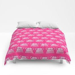 Small elephant print Hmong Comforters