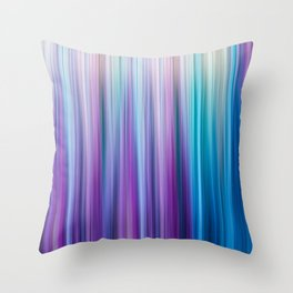 Abstract Purple and Teal Gradient Stripes Pattern Throw Pillow