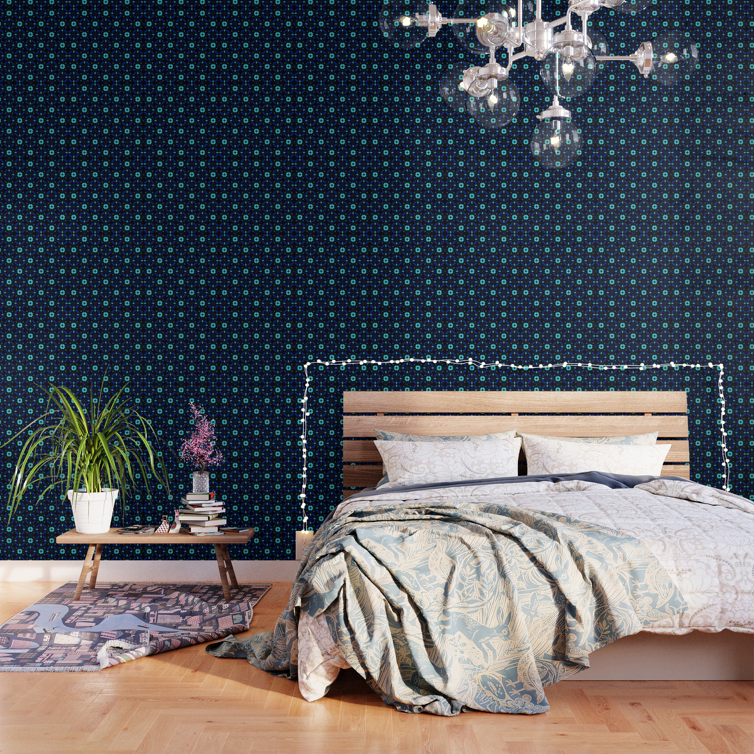 Bold Bloom No 1 Floral Repeat Pattern Wallpaper By