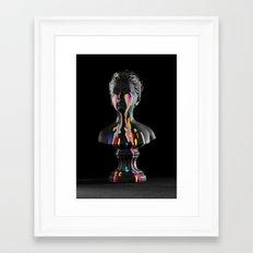 The Girl With Stars In Her Eyes (Black Background) Framed Art Print