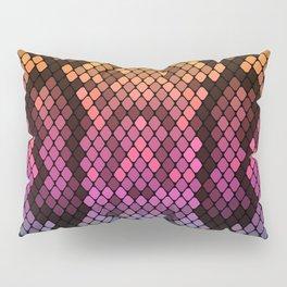 Orange/Pink/Blue Snake Skin Pillow Sham