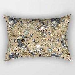 Steampunk element collection repeats  Rectangular Pillow