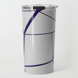 PURPLE GEOMETRIC Travel Mug
