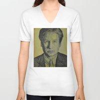 mulder V-neck T-shirts featuring Mulder  by Jenn