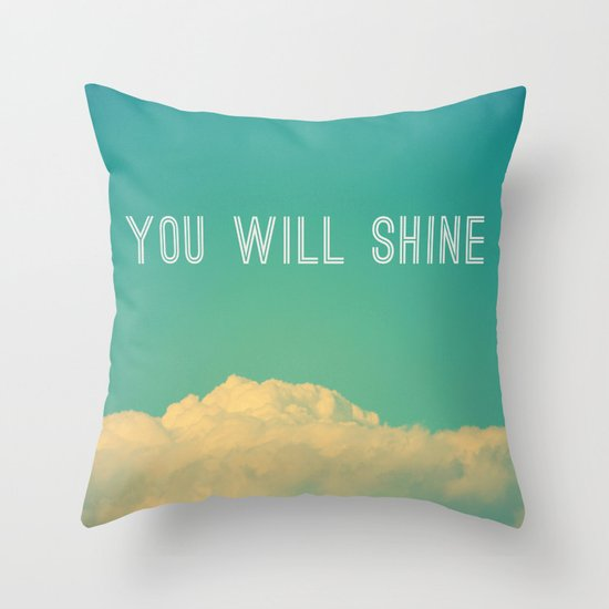 Baby, you will shine! Throw Pillow