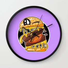 Fast Food FRENZY - Cheezy Sally Wall Clock