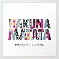 hakuna Art Prints featuring Hakuna Matata by Amy Copp