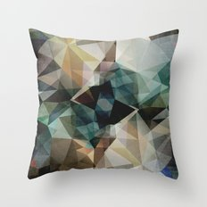 Abstract Grunge Triangles Throw Pillow