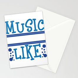 """Want awesome t-shirt design about Music?You found the right one! """"Music is What Feelings Sound Like"""" Stationery Cards"""