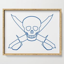 Skull and Cutlasses In Outline Serving Tray