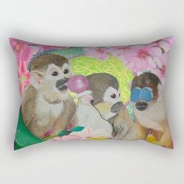 wise monkeys 3.0 Rectangular Pillow