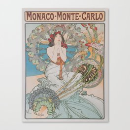 Vintage poster - Monte Carlo Canvas Print