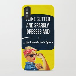 I like glitter and sparkly dresses iPhone Case
