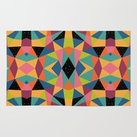 kaleidoscope Area & Throw Rugs featuring Kaleidoscope by Andy Westface