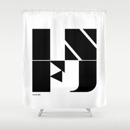Type Type for INFJ Shower Curtain