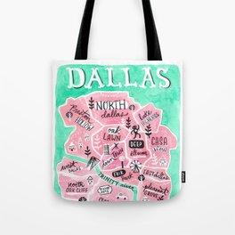 Dallas City Map Tote Bag