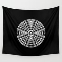 buddhism Wall Tapestries featuring MANDALA IM ZÜRICH by THE USUAL DESIGNERS