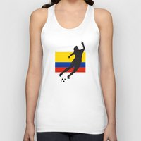 colombia Tank Tops featuring Colombia - WWC by Alrkeaton