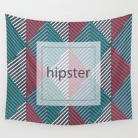 hipster Wall Tapestries featuring Hipster by eARTh