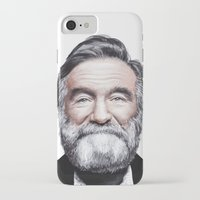 robin williams iPhone & iPod Cases featuring A tribute to Robin Williams by Antoine Dutilh