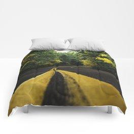 new england road Comforters
