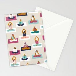 Morning yoga Stationery Cards