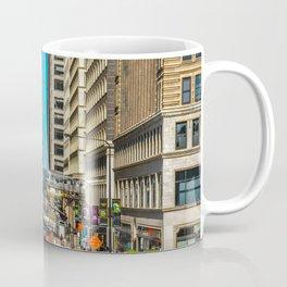 Cartoony Downtown Chicago Coffee Mug