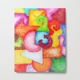 Shapes- Cubist Style Metal Print